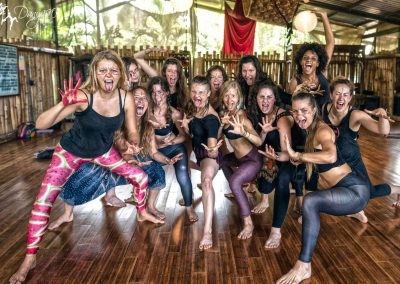 awakening Kali ritual at yoga teacher training at Danyasa in Costa Rica