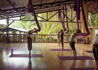 aerial yoga class with Jessi Rae at Danyasa studio
