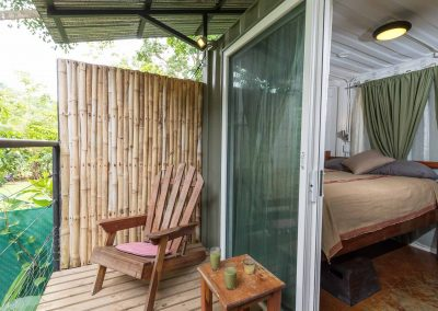 Photo of the Private Patio outside a Superior Queen Room at Danyasa Eco Retreat