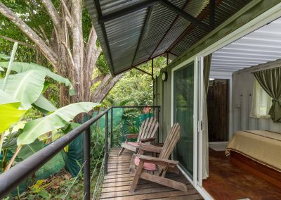 Enjoy the birds, plants, and views from your private deck in Dominical Costa Rica at Danyasa Eco Retreat