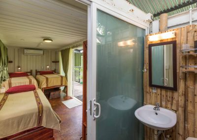 Private bathroom in your king suite at Danyasa Eco Retreat in Costa Rica