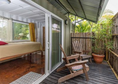 Enjoy your private patio off a king suite at Danyasa in Domincal Costa Rica
