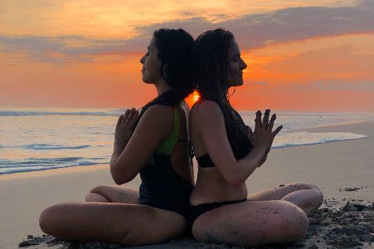 Elemental Serenity Yoga Retreat on the beach at Danyasa