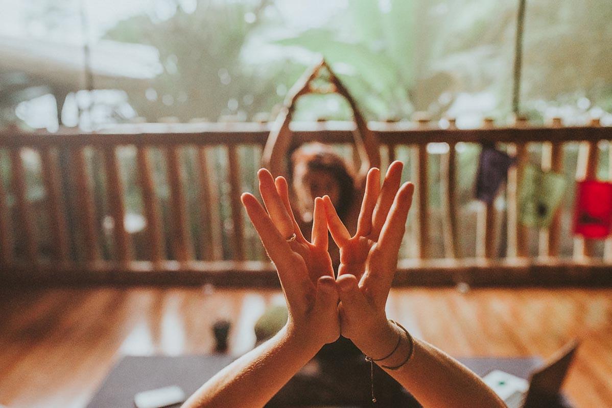 Yoga practice in Danyasa Studio